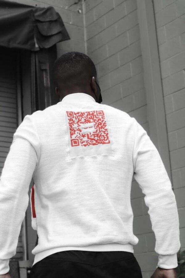 KNITTED CODE RED SWEATER BACK